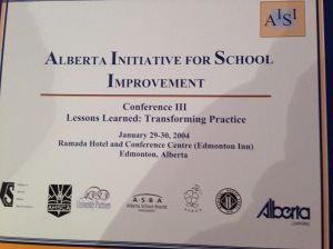 As a leader of AISI projects and evaluator of Cycle II, I have had the opportunity to work with Alberta's teachers to improve the learning in our classrooms and to foster teacher expertise.